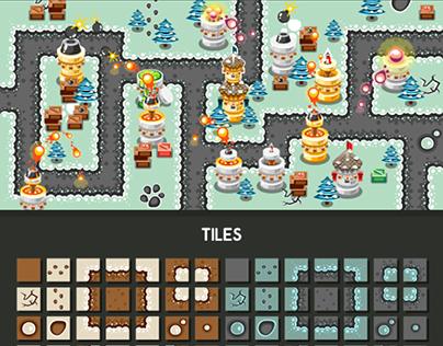 """Tower Defence Game Tile Set """"Winter"""""""