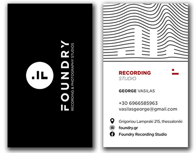 Foundry - recording and photography studios - logo