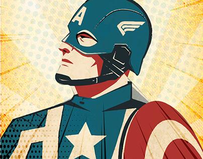 Captain America film posters