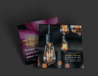 "Flyer designs for restaurant ""Central de Brazil"""