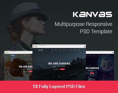 Kanvas Multipurpose Responsive PSD Template