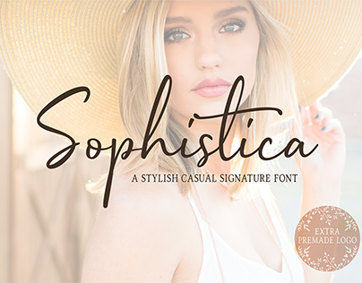 Sophistica - Stylish Font Duo +Extras
