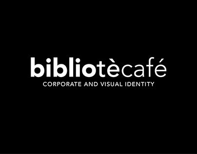 bibliotècafé - Corporate and visual identity
