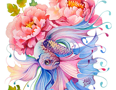 Watercolor Fish Collection