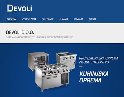 Web shop and Brand logo design http://devoli.rs/