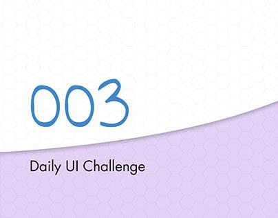 Daily UI Challenge 003