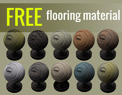 Free flooring material fore office. (Corona render)