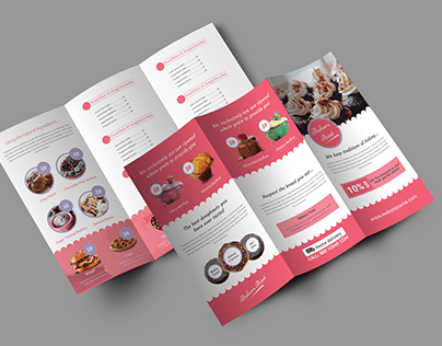Bakery Tri-Fold Brochure Pages