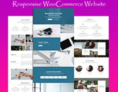 Flotsam woo-commerce landing pages Design