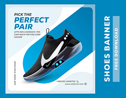Shoes Social Media Banner Template Free Download