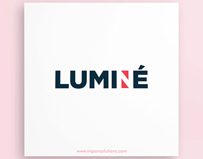 A logo design concept of LUMINE