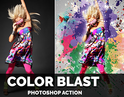 Color Blast Photoshop Action