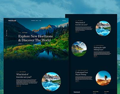 Landing Page Design - Ui Web Design by Amalia Goyanes