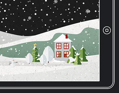 Snow Scene - Festive Wallpaper for iPhone & iPad