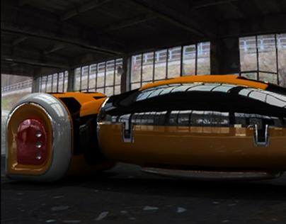 Minority Report Concept Car Render