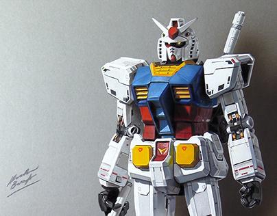 Drawing Gundam