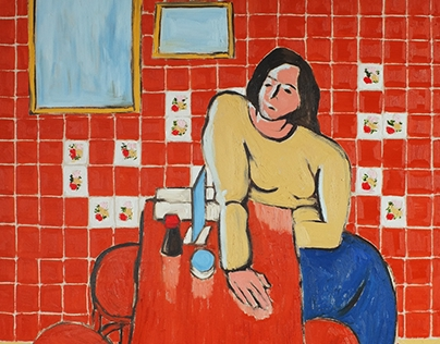 A Woman in Red Reatuarant