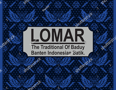 Lomar Baduy Vector - The Traditional Of Baduy Batik