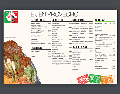 Los Comales Menu Redesign