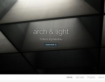 Arch & Light Website