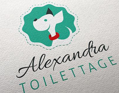 Identité graphique Alexandra Toilettage