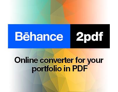 Behance2pdf — converter your Behance porfolio