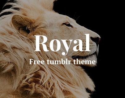 Royal - free tumblr theme