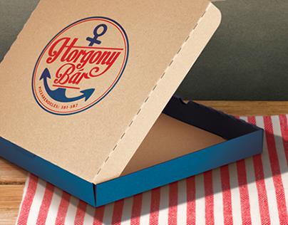 Horgony Bar - pizzeria branding