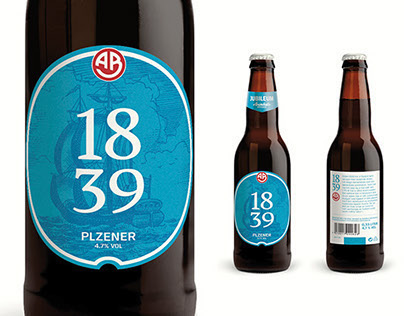 1839 Beer label - Arendals Bryggeri