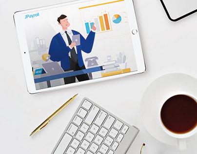 JPAYROLL Job Visit Tracking - Motion Graphic Video Ads