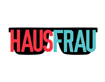 Hausfrau Magazine - Title Treatment & Logo