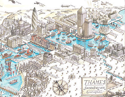 History of the River Thames Map