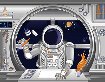 Illustration of an Astronaut.