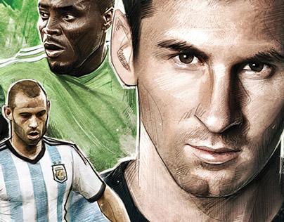 Brasil 2014, Match posters
