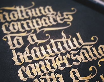 Gold on Black | Calligraphy Practice