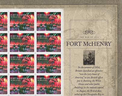 USPS Postage Stamp: The Battle of Fort McHenry