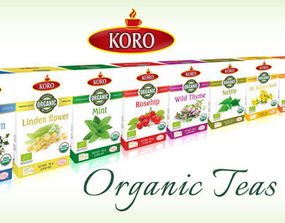 Organic teas packaging design