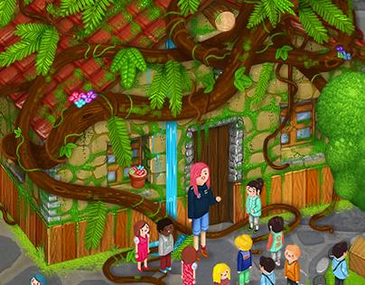 Illustrations for the website La Granja de los Cuentos