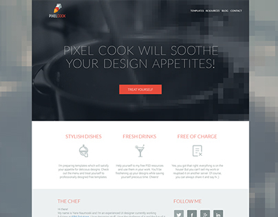 Pixel Cook - Free PSD Templates and Resources