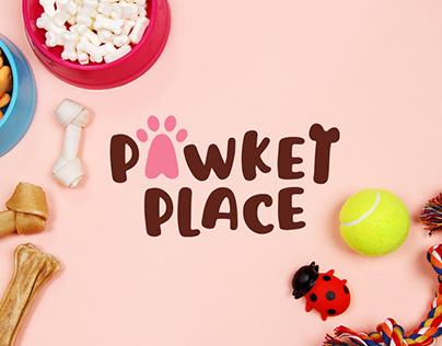 Pawket Place Pet Shop Branding Logo Design