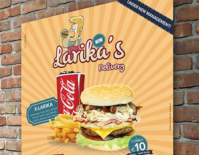 Poster - Larika's Delivery - Dublin - Ireland