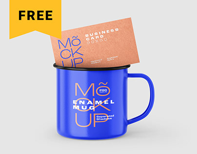Free Enamel Mug Mockup Set