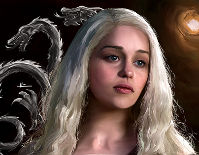Emilia Clarke portrait [Game of Thrones] Khaleesi