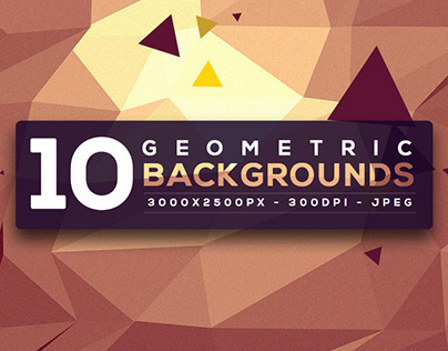 10 Free Geometric Backgrounds