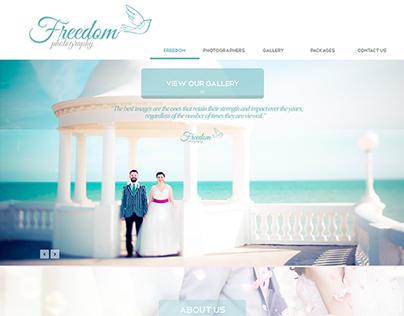 Wedding Photographer Website Design (flatUI)