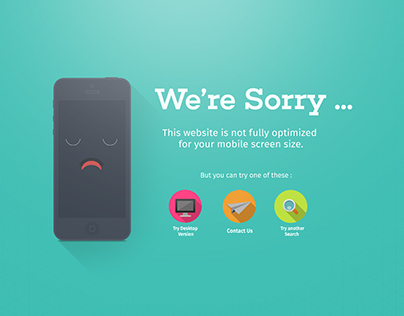 Screen Size Error Page | Flat design