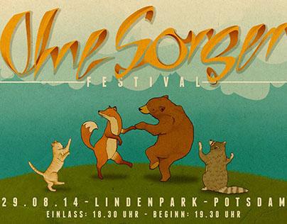 festival poster - ›ohne sorgen festival‹