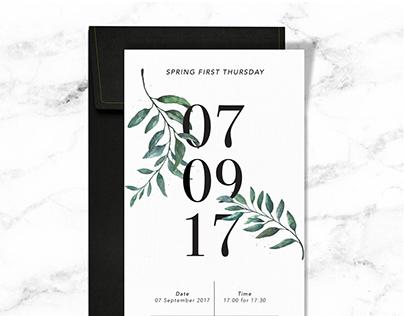 First Thursday Event Invite Design