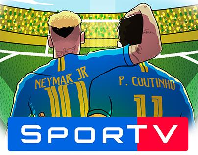 Copa do Mundo 2018 SporTV (Ilustração de Charges)