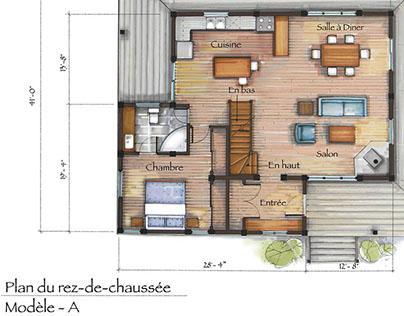 Interior Plan Rendering A